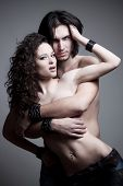 image of gothic hair  - love vampires in studio - JPG