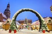 Christmas market in Riga, Latvia