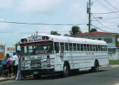 Bus stop in Belize City