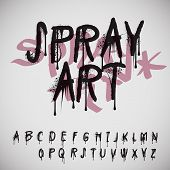 Graffiti splash alphabet