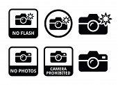 No photos, no camera, no flash icons