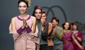 ZAGREB, CROATIA - NOVEMBER 22: Fashion models wearing clothes designed by Iggy Popovic on the Zagreb