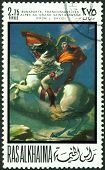 Vintage  Postage Stamp.  Bonaparte In The Alpes