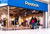 EKATERINBURG, RUSSIA - NOV 24: Shoppers visit Reebok Center in Mega Mall on Nov 24, 2013 in Ekaterin