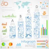 illustration of Business Infographics Chart