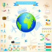 illustration of Travel Infographic Chart for presentation