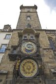 Famous Astronomical Clock On The Town Hall In Prague