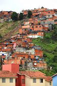 Favela near the city of Sao Paulo