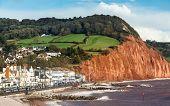 Sidmouth Beach Devon England