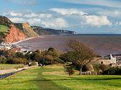 Overlooking Sidmouth Devon England