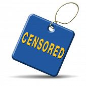 censored content control label censoring censorship checked and declined