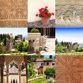 Famous Alhambra Castle, Granada, Spain