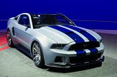 LOS ANGELES, CA - NOVEMBER 20: A Ford Mustang on exhibit at the Los Angeles Auto Show in Los Angeles