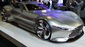LOS ANGELES, CA - NOVEMBER 20: A Mercedes-Benz AMG Vision Gran Turismo on exhibit at the Los Angeles