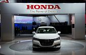 LOS ANGELES, CA - NOVEMBER 20: A Honda Accord Hybrid on exhibit at the Los Angeles Auto Show in Los