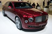 LOS ANGELES, CA - NOVEMBER 20: A Bentley Mulsanne on exhibit at the Los Angeles Auto Show in Los Ang