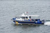 Nypd Boat In Harbor