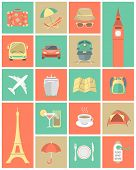 Modern Flat Traveling Icons Set