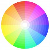 detailed illustration of a ten step color wheel, eps10 vector