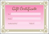 Gift Certificate Pink Gold