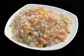 Shrimps and rice dish.Chinese food.
