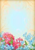 Romantic floral invitation design