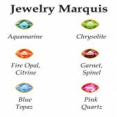 Jewelry Marquis Isolated Objects