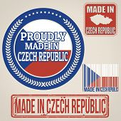 Made In Czech Republic Stamps And Labels