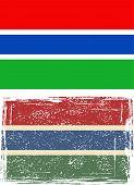 Gambia grunge flag. Vector illustration.