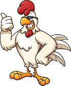 Cool cartoon chicken. Vector clip art illustration with simple gradients. All in a single layer.