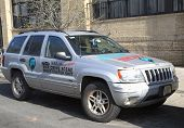 WikiLeaks war crime scene investigator unit car in Brooklyn
