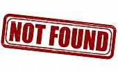 stock photo of not found  - Stamp with text not found inside - JPG