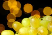 White Grapes On Glowing Background