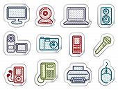 Equipment stickers