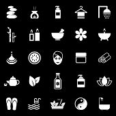 Spa Icons On Black Background