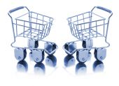 Miniature Shopping Trolleys
