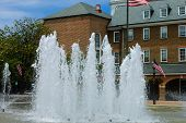 Alexandria city hall fountain