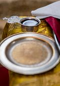 Common Cup With Red Wine, Accessories For A  Orthodox Wedding