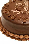 Chocolate Birthday Cake Closeup