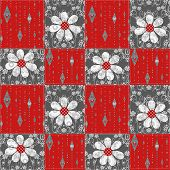 Patchwork Seamless Pattern Floral Background