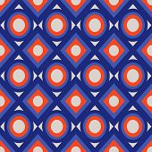 Seamless Pattern With Circles And Rhombs