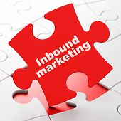 Finance concept: Inbound Marketing on puzzle background