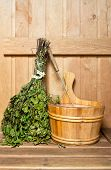 Sauna Broom And Bucket