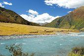 Landscape With River In New Zealand