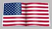 U.s. Flag Depicted In An Open Book