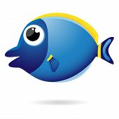 Cartoon Unicornfish