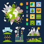 Постер, плакат: Ecology symbols set