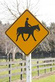 Horse and rider on sign