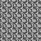 stock photo of uncolored  - Design seamless monochrome vortex pattern - JPG