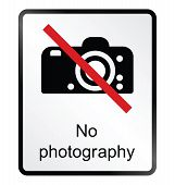 No Photography Information Sign